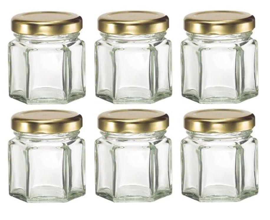 シュリンク曖昧なプラグ1-1 / 2など、キャンドル、蜂蜜のためlids-オンス(1.5オンス)HEX 6六角ガラスJars-