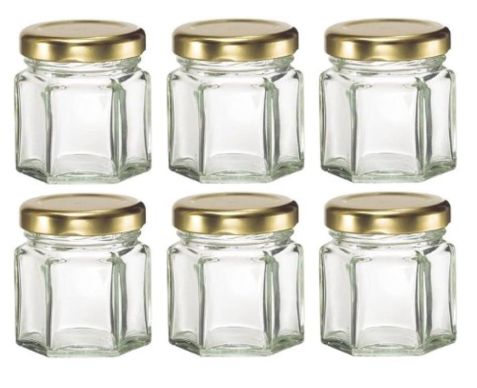 サッカー望まない先駆者1-1 / 2など、キャンドル、蜂蜜のためlids-オンス(1.5オンス)HEX 6六角ガラスJars-