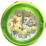 ディズニー・ピクサー 目覚まし時計 アナログ LEDクロック メロディ アラーム トイ・ストーリー グリーン