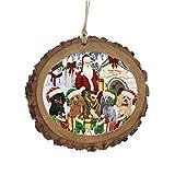 Happy Holidays クリスマスプードル ドッグハウス ギャザリング 木製クリスマスオーナメント WOR49717