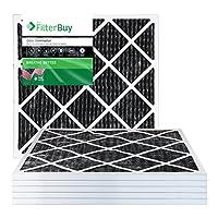 FilterBuy Allergen Odor Eliminator MERV 8プリーツAC炉エアフィルタwith Activated Carbon–パックof 6 24x24x1 AFB24x24x1OEpk6