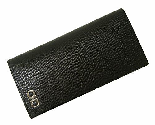 (フェラガモ) 長財布 メンズ カード大容量(ブラック×フィ...