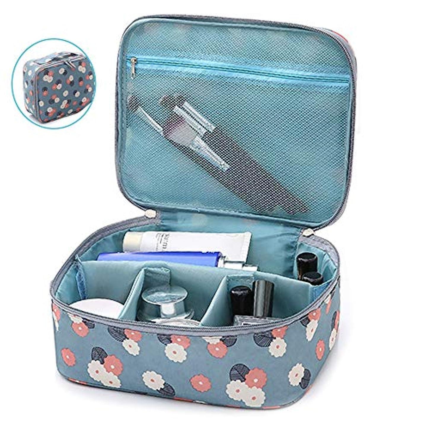 旅客盲目破産メイクボックス プロ用 大容量 コスメボックス 旅行ポーチ 化粧道具 小物収納 メイクポーチ