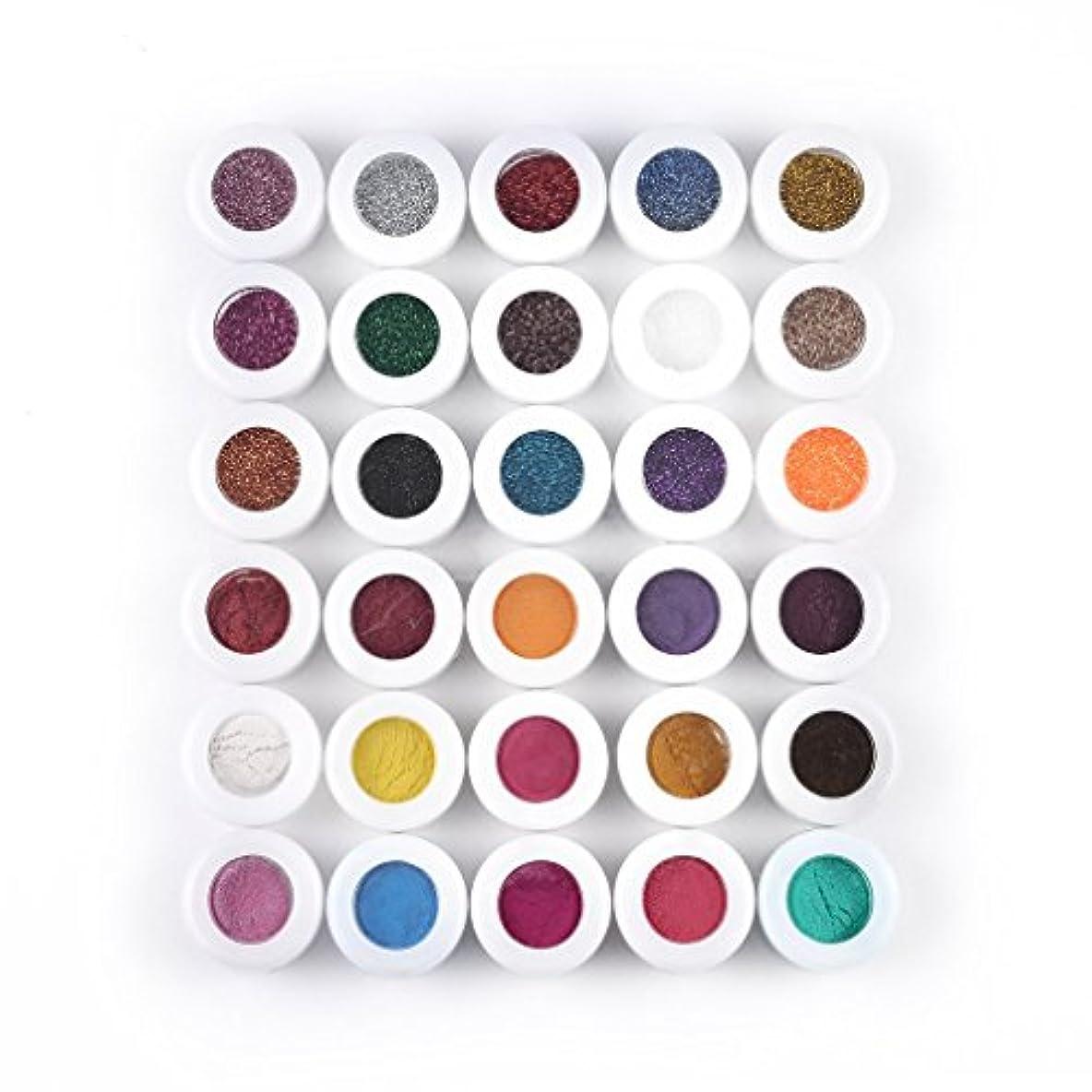シーケンス近く想像力豊かなプロフェッショナルカラフルな30色のアイシャドウパウダーメイクアップミネラルアイシャドウの女性の顔の美容化粧品メイクアップツール