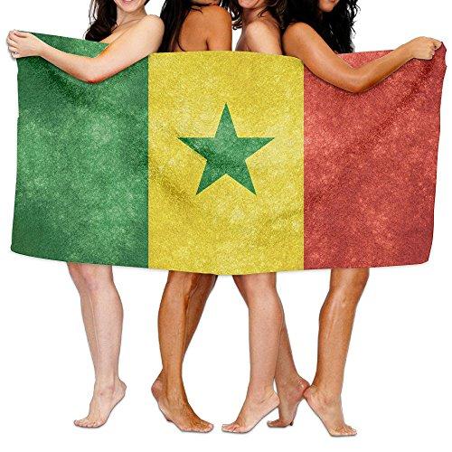 ビーチバスタオル バスタオル セネガル国旗 ビーチ用 海水浴 旅行用タオル 多用途 おしゃれ One Size White