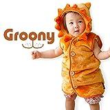 Groony グルーニー 着る毛布 シルキータッチ スリーパー ライオン柄 着ぐるみ 子供服 ベビー服 洗える 着丈53cm Sサイズ