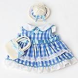 うさももドール 着せ替え人形 服 夏のさわやかコーデ チェック柄
