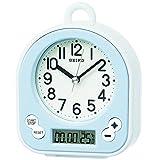 (セイコークロック) SEIKO CLOCK キッチン バス クロック お風呂用時計 BZ358L 生活防水 タイマー 水色 白 アナログ