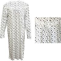 100% Cotton Women Nightie Night Gown Pajamas Pyjamas Winter Sleepwear PJs Dress