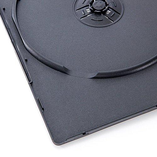 『サンワダイレクト DVDケース スリム トールケース 100枚 7mm厚 1枚収納 ブラック 200-FCD039BK-100』の6枚目の画像
