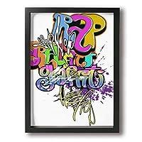 QN-artframe 絵 絵画 アートフレーム アート パネル インテリア 壁掛け ポスター キャンバス フレーム セット Art 雑貨 飾り グッズ 完成品 プレゼント アニメ 動画 可愛い オシャレ 風景 モダン 現代 コンテンポラリー 芸術 映画 漫画 開店祝い 新築祝い プレゼント ギフト パズルフレーム ポスターフレーム ビジネスフレーム 雰囲気 30*40cm