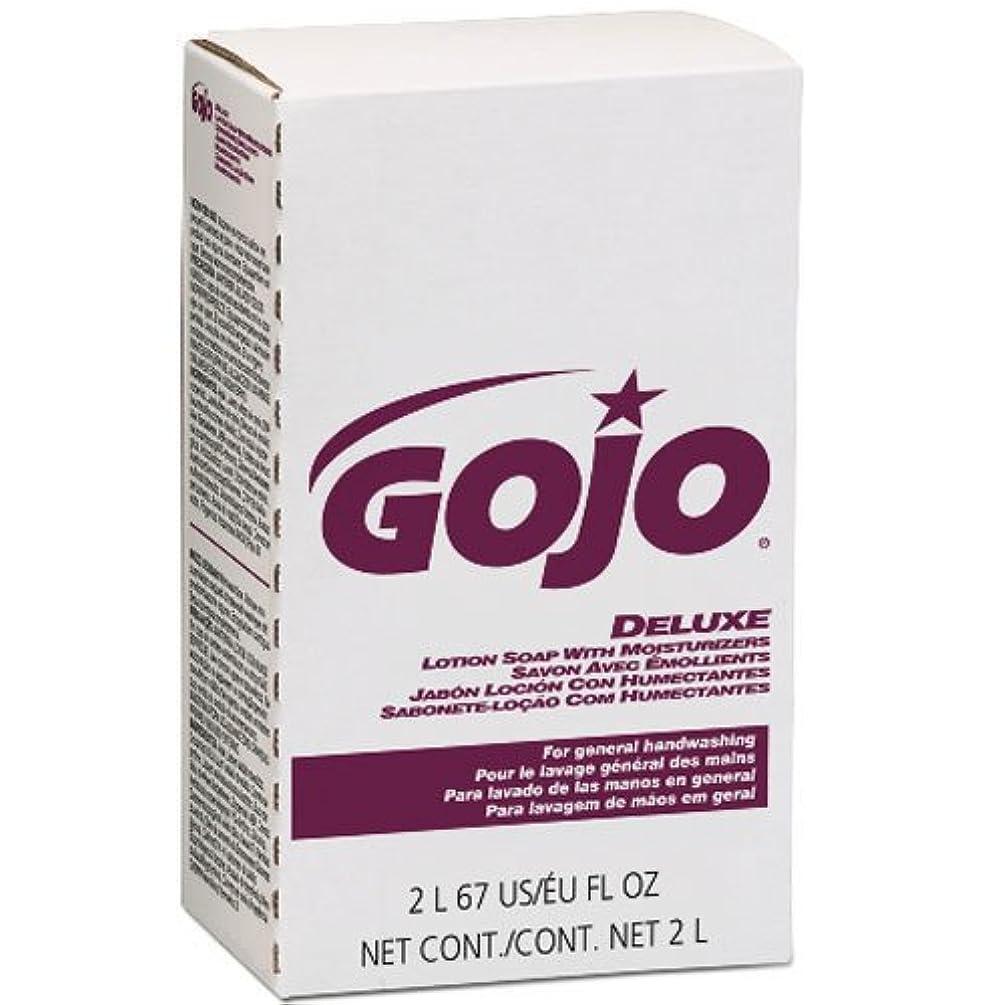 癒すクランプ形状GOJO NXTデラックスローションSoap w /花柄保湿剤詰め替え2000 ml、4 /ケース