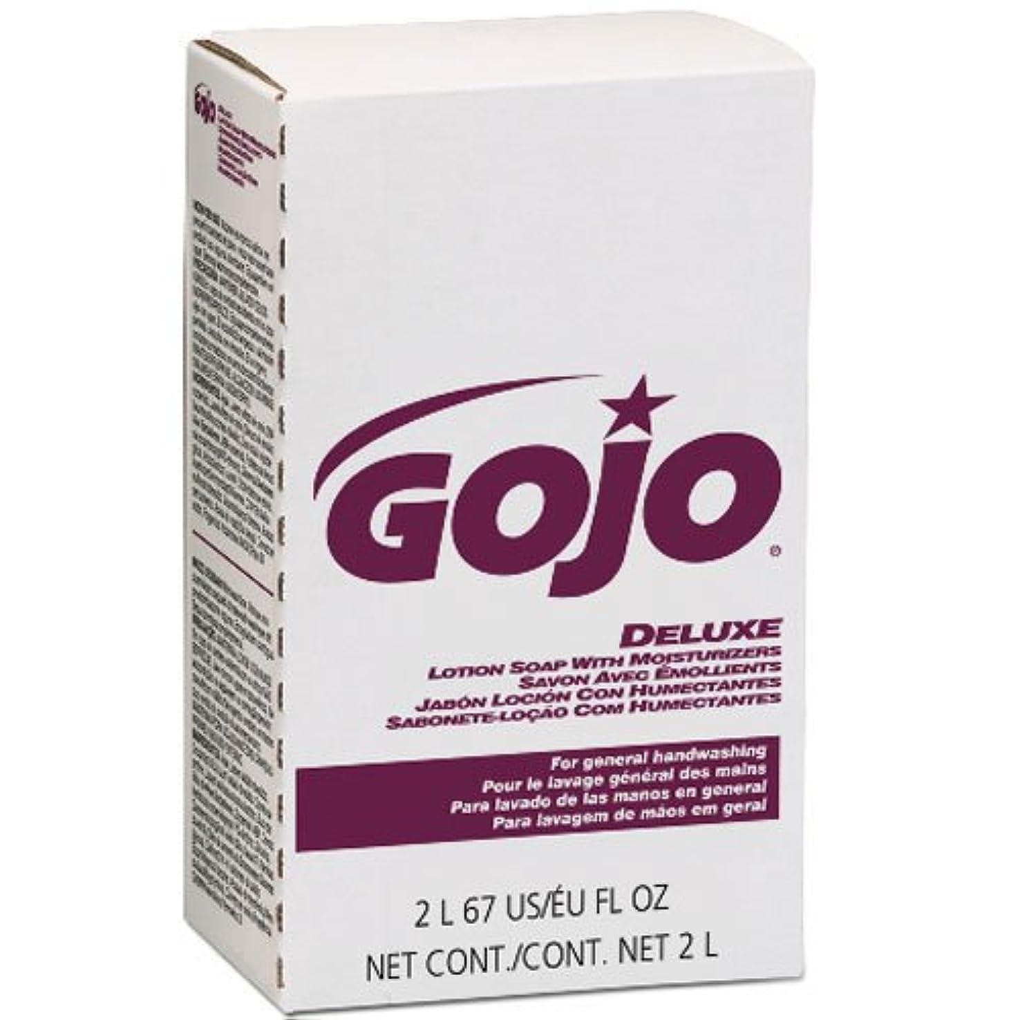 一節邪魔ぬれたGOJO NXTデラックスローションSoap w /花柄保湿剤詰め替え2000 ml、4 /ケース