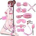 【改良版】Sexyhot SMグッズ 10点セット 拘束具 成人用 セクシー 情趣用品 SMコスプレ SMプレイ用 様々な体格に対応 調節可能 ピンク
