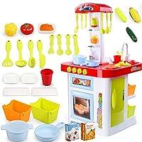 36ピース遊ぶキッチンプラスチックシミュレーション料理料理キッチンおもちゃキッチンセット果物や野菜、役割を果たして子供の教育おもちゃセット