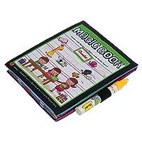 魔法水図面帳Coloring Book Doodle Magicペン動物ペイントwith詰め替え可能水ペン、Great Gift for Children Kids