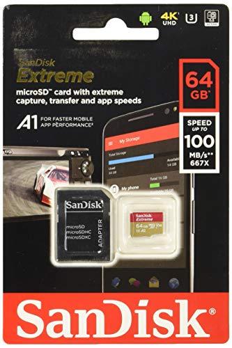 サンディスク ( SANDISK ) 64GB microSDXC Extreme R=100MB/s W=60MB/s SDアダプタ付き [海外パッケージ]...