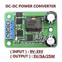 UIOTEC DC Buck Converter Voltage Regulator 9-35V to 5V 5A 25W Adjustable Output Power Supply Transformer Step-Down Volt Module Board **