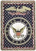 United States Navy Military 3 Layer Afghan Throw Blanket 127cm x 177.8cm
