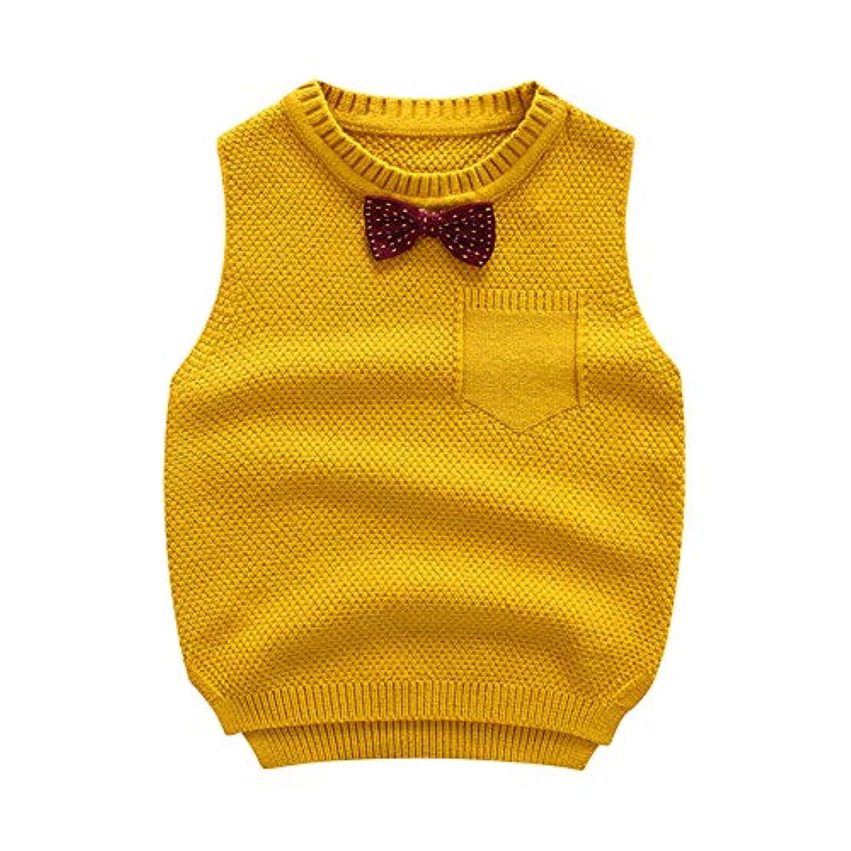 Reiki Kids 子供 ベスト ニット セーター 袖なし キッズ 男女兼用 春 秋 冬 綿 ケーブル編み メリヤス 通園 通学 お出かけ