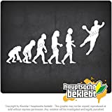 進化ハンドボール Evolution handball 20cm x 9cm 15色 - ネオン+クロム! ステッカービニールオートバイ
