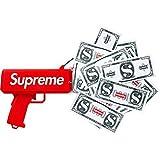 シュプリーム The Cash Cannon Money Gun マネーガンキャッシュ キャノン100枚の紙幣を贈呈します 赤 [並行輸入品]