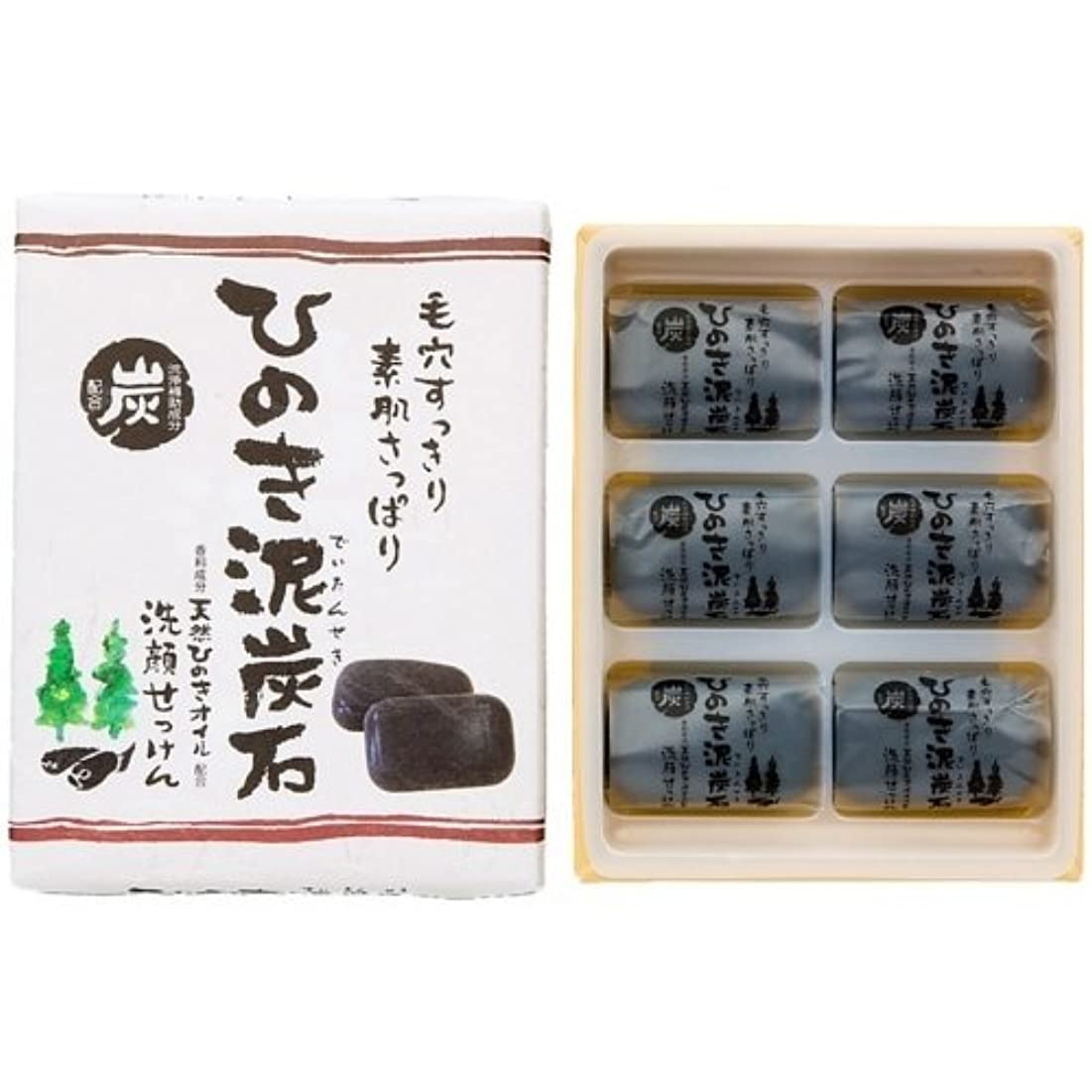ひのき泥炭石 すっきりタイプ 黒 30g×6個入