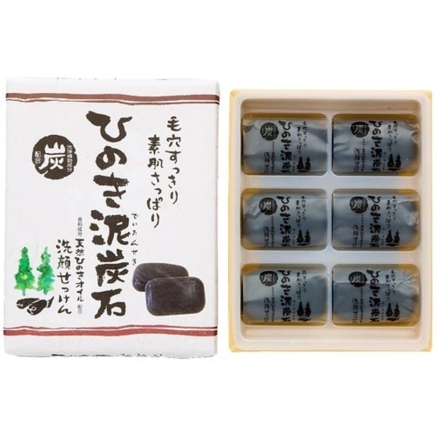 連邦契約する発信ひのき泥炭石 すっきりタイプ 黒 30g×6個入