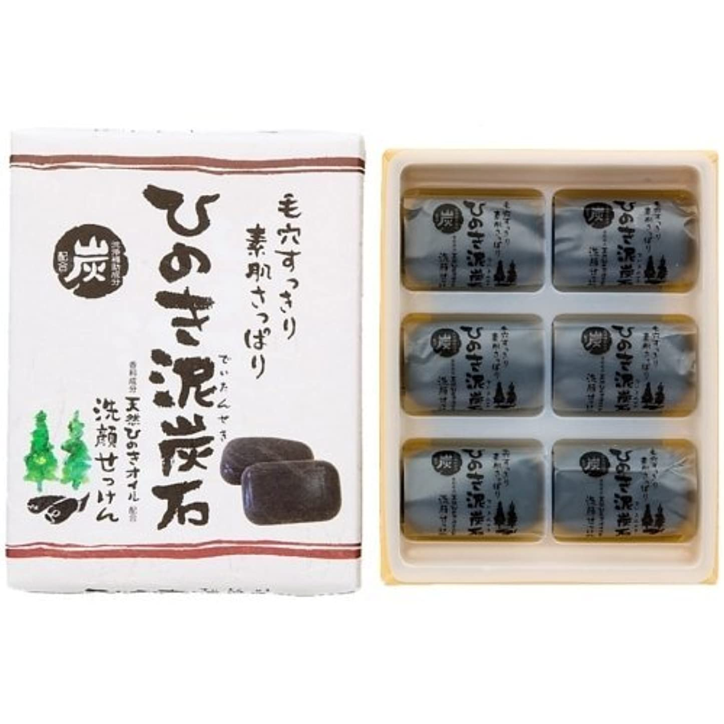 意識やむを得ない契約ひのき泥炭石 すっきりタイプ 黒 30g×6個入
