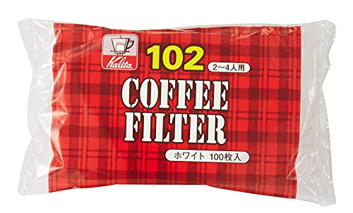カリタ Kalita コーヒーフィルター ホワイト NK102濾紙 2~4人用 100枚入り #13123