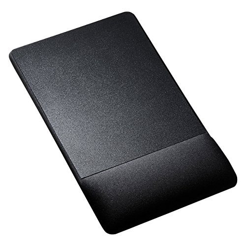 サンワサプライ リストレスト付きマウスパッド(布素材高さ高めブラック) MPD-GELNHBK 1個