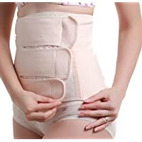 1PCS Cotton Elastic Abdominal Binder Postpartum Belly Wrap Waist Slim Slimming Shaper Back Support Girdle Belt C-section Pregnancy Recovery Abdomen Corset Staylace for Women Lady Girl (M)
