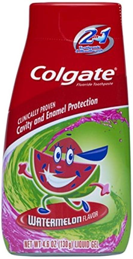 地平線入場料消費するColgate キッズ2-IN-1歯磨き粉マウスウォッシュスイカ4.60オズ(5パック) 5パック