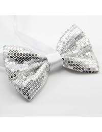メンズ調節可能なスパンコールBow Tie with for aタキシードまたはA Suit