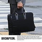 (ブロンプトン) BROMPTON 防水軽量ブリーフケース 2層 ブラック No.26495 メンズ 日本製 B4 コーデュラ 止水ファスナー