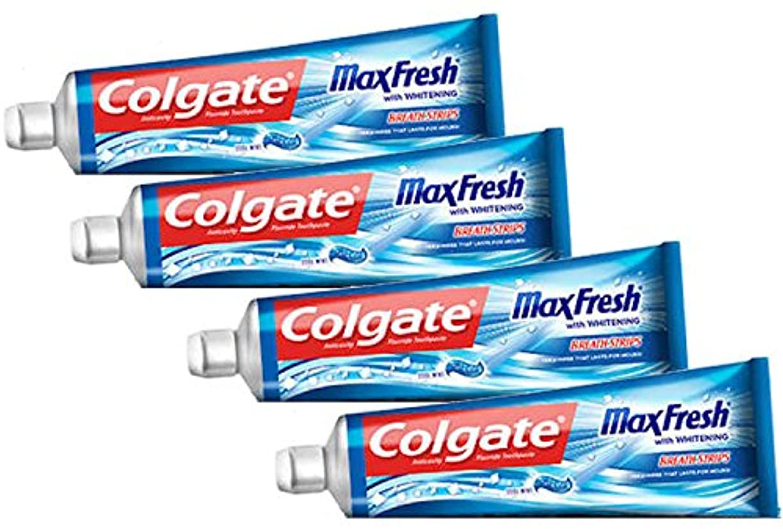 評議会受け入れる付き添い人Colgate コルゲートMaxFresh 歯磨き粉Cool Mint 221g x 4個パック