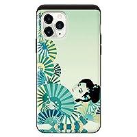 iPhone11ProPro iPhoneケース (ハードケース) [カード収納/耐衝撃/薄型] 京美人1 スマホケース 携帯電話用ケース アイフォンケース CollaBorn