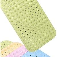 IRETION お風呂マット 浴槽用 滑り止めマット 転倒防止 介護用品 匂いなし 防カビ 吸盤付き 38×76cm TPR製(グリーン)