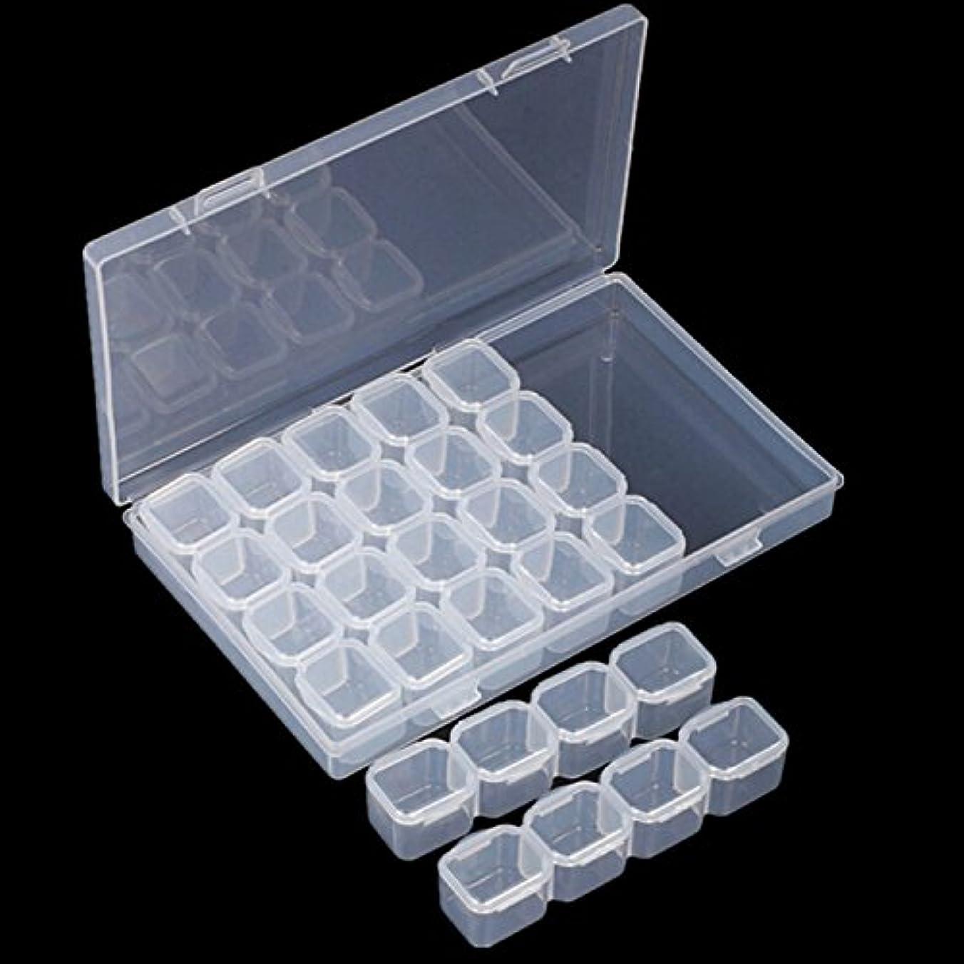 潜む酸素国家Gaoominy ネイル28ラティスジュエリーボックス組み立てることができる解体ボックスネイル装飾ガジェット合金ダイヤモンドの装飾品のボックス