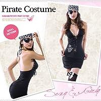 ハロウィン コスプレ 衣装 海賊 パイレーツオブカリビアン風 ワンピース ターバン付