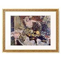 ロヴィス・コリント Lovis Corinth 「Large Still-life with Person, Birthday picture. 1911」 額装アート作品