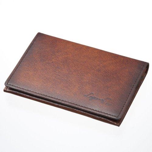 LuggageAOKI 青木鞄 Lugard G3 ラガード ジースリー パスケース 定期入れ カードケース 日本製 本革 ブラウン 5204-50