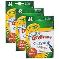 3 Pack of 8 Crayola Dry-Erase Crayons bundled by Maven Gifts [並行輸入品]