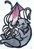 ねこの引出し 猫切り絵作家「さとうみよ」のポストカード「するめいか/北海道」