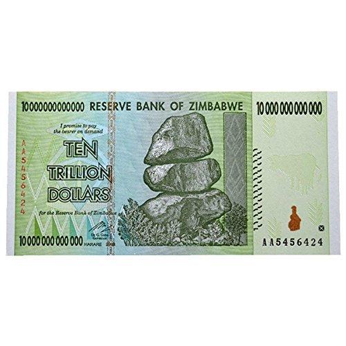 10兆 ジンバブエドル ハイパーインフレ紙幣 10,000,000,000,000ジンバブエドル 10兆ドル