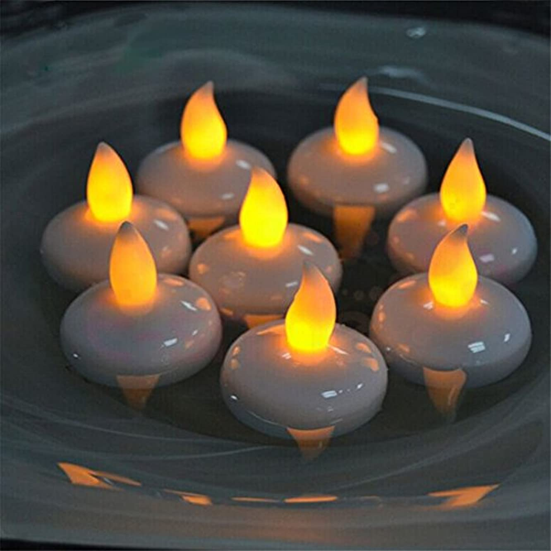 地中海タンザニアパウダー(愛の灯)Youngerbaby12/水に浮くローソク 暖かい黄色い光のLEDキャンドルライト 癒しの雰囲気誕生日パーティーやクリスマスなどの装飾用