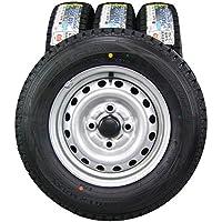 12インチ 4本セット スタッドレスタイヤ&ホイール DUNLOP (ダンロップ) WINTER MAXX (ウインターマックス) SV01 145R12LT 6PR DAIHATSU ハイゼットトラック純正 12×4J(+40) PCD100-4穴