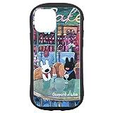 グルマンディーズ リサとガスパール iPhone12/12 Pro(6.1インチ)対応 ハイブリッドガラスケース カフェ COS-118B