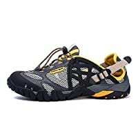 corbell メンズ hiking shoes for men shockproof non-slip outdoor breathable low snow leather hiking walking shoes 25cm グリーン