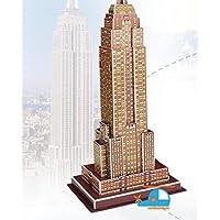 HuaQingPiJu-JP 創造的な教育3Dパズルアーリーラーニング建設子供のためのおもちゃファンタスティックギフト(エンパイアステートビルディング)